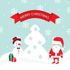Vector Merry Christmas card