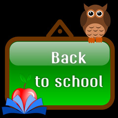 Back to school with owl