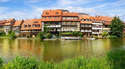 Fototapete - Facades of houses in Bamberg Bavaria