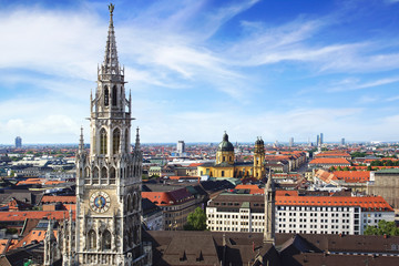 Fototapete - Panoramic view at the Munich.