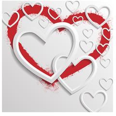 Valentinstag Vektor Hintergrund.