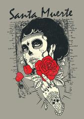 Santa muerte Rose