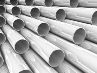 3D chrome tubes - high technology background.