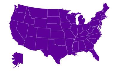 Carte des Etats-Unis