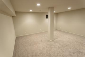 Angled Basement Interior