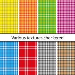 Various textures checkered