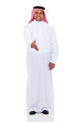 arabian man hand shake gesture