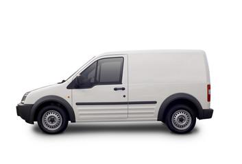 Blank white van