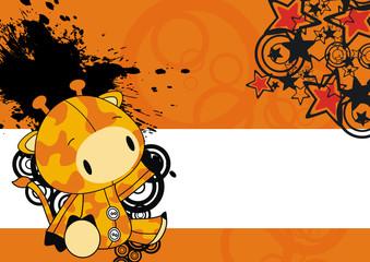 giraffe baby cute cartoon background