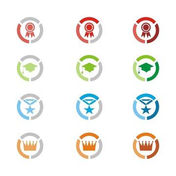 level icons, level badges