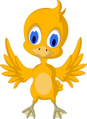 Cute chick cartoon