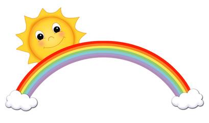 sole con arcobaleno