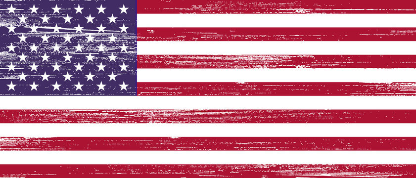 US Wood Grunge Flag