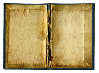 Empty Pages of Old book isolated
