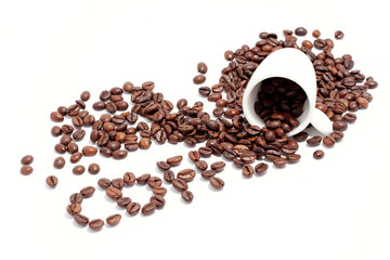 the word coffee on white background