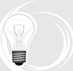 Light bulb. Icon for design