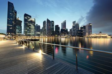 Foto op Plexiglas Singapore Singapore city in sunset time
