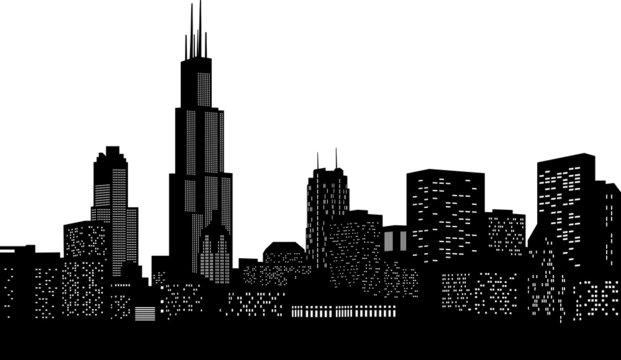 Chicago Skyline Vektor