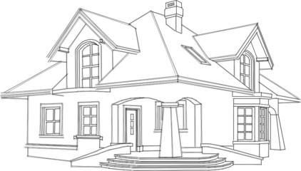 szkic domu projekt