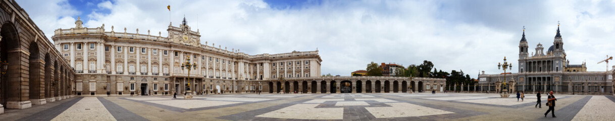 Panorama of Royal Palace of Madrid