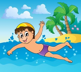 Swimming theme image 4