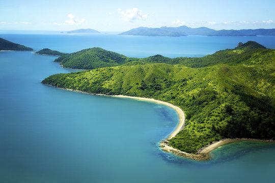 Aerial of Whitsunday Island