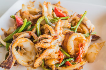 Chilli salted squid curry.