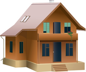 Beautiful house in vector