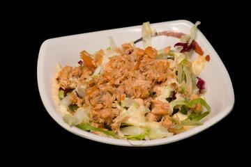 Japanse zalm salade