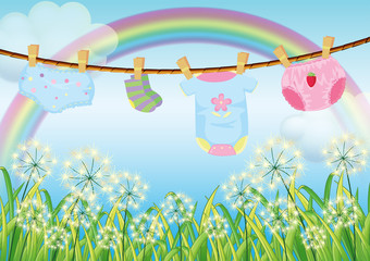 Hanging clothes for toddlers