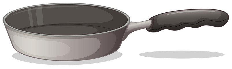 A gray cooking pan