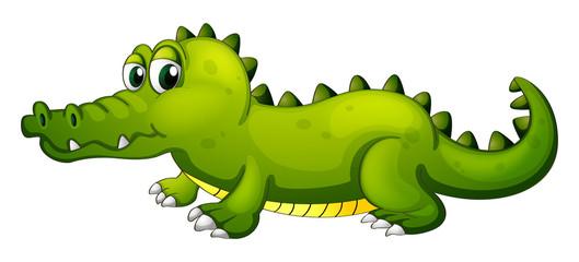 A giant green crocodile