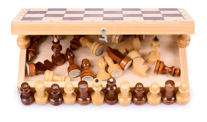 chess pieces and chessboard