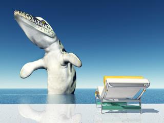 Urlaubserlebnis mit Seeungeheuer