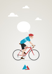 Wall Mural - cycliste vintage 3