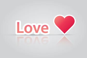 Love heart icon vector EPS10