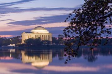 Wall Mural - Jefferson Memorial at dawn by Tidal Basin, DC