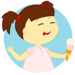 the girl with ice cream