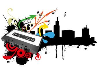 tape cassette skyline