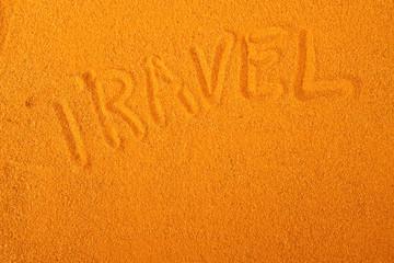 Travel sand writing