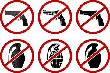 no pistols and grenades