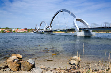 Solvesborg's bridge - view from island coast