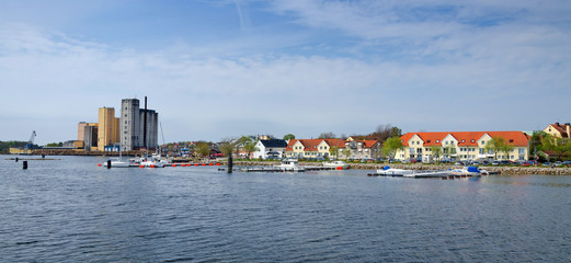 Spring panorama of Solvesborg city
