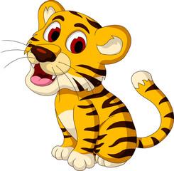 cute baby tiger posing