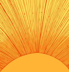 Yellow sun rays background
