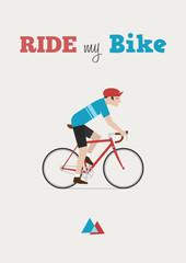 Papier Peint - ride my bike