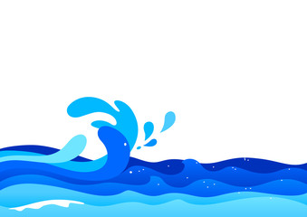 Illustration of ocean waves