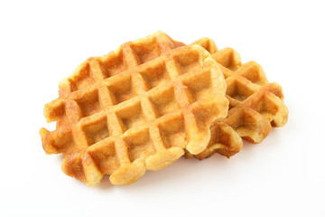 dessert waffles su sfondo bianco