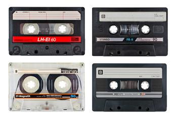 Old cassette tapes set