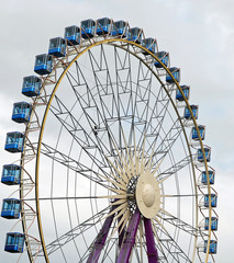 Ferris Wheel and a Cloudy Day